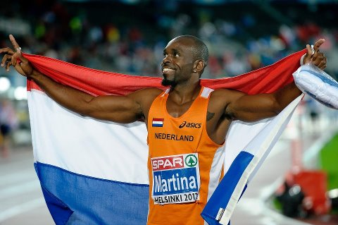 Churandy Martina, champion d'Europe du 200m
