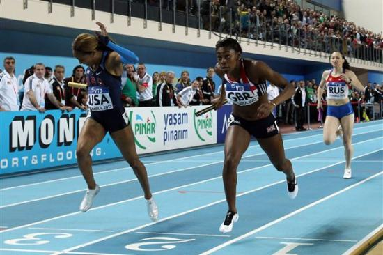 Sanya Richards-Ross et Perri Shakes-Drayton