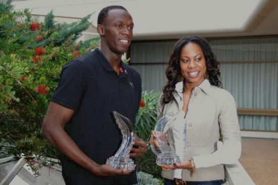 Usain Bolt et Sanya Richards