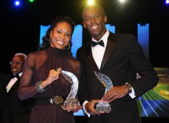Sanya Richards et Usain Bolt